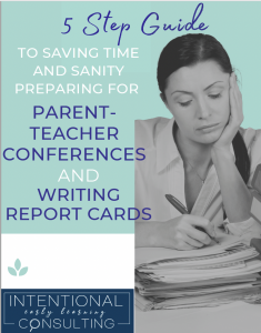 free guide for parent teacher conferences and report cards